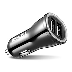abordables Novedades-Cargador de coche waza 24w / 4.8a 2 usb cargador de puerto inteligente para iphone x / 8/7 / 6s / plus, ipad pro / air / mini, galaxia note / s series, lg, nexus, htc y más