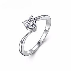 preiswerte Ringe-Damen Kristall / Kubikzirkonia Eheringe / Knöchel-Ring - Herz, Liebe Süß, Elegant 6 / 7 / 8 Silber Für Hochzeit / Valentinstag