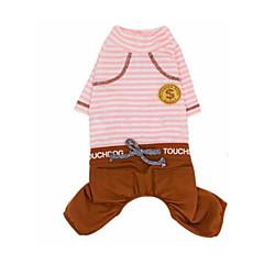 お買い得  犬用ウェア&アクセサリー-犬 Tシャツ 犬用ウェア 縞柄 ブルー / ピンク コットン コスチューム ペット用 カジュアル/普段着