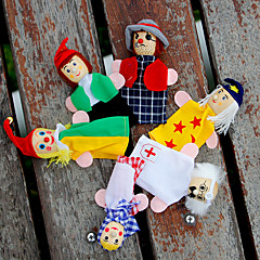 cheap Puppets-Finger Puppets Puppets Pretend Play Educational Toy Toy Cute Lovely Plush Girls' Kid's Gift 6pcs