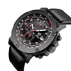 abordables Relojes Mecánicos-SKMEI Hombre Reloj Deportivo Chino Calendario / Cronógrafo / Resistente al Agua Piel Banda Lujo / Casual / Moda Negro / Cronómetro