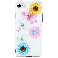 Недорогие Кейсы для iPhone 6 Plus-Кейс для Назначение Apple iPhone 7 iPhone 6 С узором Своими руками Задняя крышка 3D в мультяшном стиле Цветы Мягкий TPU для iPhone 7 Plus