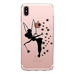 Недорогие Кейсы для iPhone 6-Кейс для Назначение Apple iPhone X iPhone 8 Прозрачный С узором Кейс на заднюю панель Соблазнительная девушка Мягкий ТПУ для iPhone X