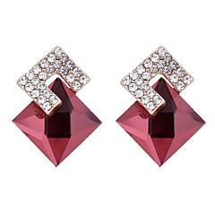 abordables Bijoux pour Femme-Femme Cristal Boucles d'oreille goujon - Cristal, Zircon Basique Rouge / Bleu royal Pour Anniversaire Cadeau