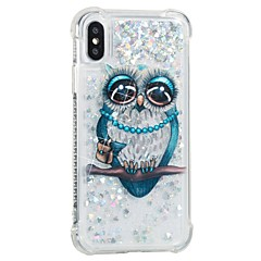 tanie Etui do iPhone 5S / SE-Kılıf Na Apple iPhone X iPhone 8 Odporne na wstrząsy Z płynem Wzór Etui na tył Sowa Miękkie TPU na iPhone X iPhone 8 Plus iPhone 8 iPhone