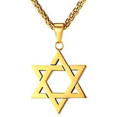 Муж. Звезда На каждый день Этнический Ожерелья с подвесками , Нержавеющая сталь Ожерелья с подвесками , Повседневные