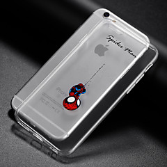 billige Etuier til iPhone 7-Til iPhone X iPhone 8 iPhone 6 iPhone 6 Plus Etuier Transparent Bagcover Etui Leger med Apple-logo Blødt TPU for iPhone X iPhone 8 Plus