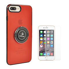 Недорогие Кейсы для iPhone-Кейс для Назначение Apple iPhone 8 iPhone 8 Plus Кольца-держатели Сплошной цвет Твердый ПК для iPhone 8 Pluss iPhone 8 iPhone 7 Plus