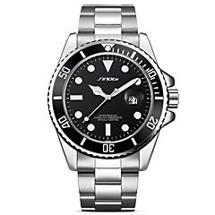 cheap -SINOBI Men's Wrist Watch Japanese Quartz 30 m Calendar / date / day Shock Resistant Cool Metal Stainless Steel Band Analog Luxury Vintage Fashion Silver - Green Silver / Black Silver / Blue Two Years