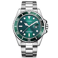 お買い得  大特価腕時計-SINOBI 男性用 リストウォッチ 日本産 カレンダー / 耐衝撃性 / クール 金属 / ステンレス バンド ぜいたく / ヴィンテージ / ファッション シルバー / 大きめ文字盤 / 2年 / Sony SR626SW