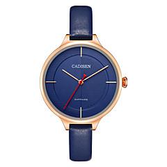 preiswerte Damenuhren-CADISEN Damen Armbanduhr Japanisch Wasserdicht / Armbanduhren für den Alltag Leder Band Freizeit / Modisch / Elegant Schwarz / Rot / Marinenblau / Zwei jahr / Sony SR626SW + CR2025