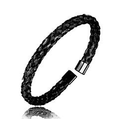 preiswerte Armbänder-Herrn Armreife - Rostfrei Armbänder Schwarz / Silber / Rotgold Für Alltag Ausgehen