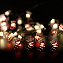 preiswerte LED Lichtstreifen-100cm Leuchtgirlanden 10 LEDs 1M Lichterkette Warmes Weiß 1 set