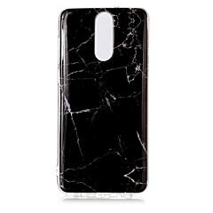 olcso Huawei tokok-Case Kompatibilitás Huawei Mate 10 pro Mate 10 lite IMD Minta Fekete tok Márvány Puha TPU mert Mate 10 pro Mate 10 lite