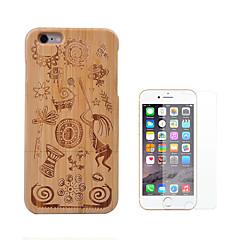 Недорогие Кейсы для iPhone-Кейс для Назначение Apple iPhone 6 iPhone 6 Plus Защита от удара Чехол Геометрический рисунок Твердый Бамбук для iPhone 6s Plus iPhone 6s