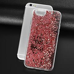 Недорогие Кейсы для iPhone 6-Кейс для Назначение Apple iPhone 8 / iPhone 8 Plus Стразы / Движущаяся жидкость / Прозрачный Кейс на заднюю панель Сияние и блеск Твердый ПК для iPhone 8 Pluss / iPhone 8 / iPhone 7 Plus