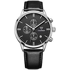 abordables Piel-Hombre Reloj Deportivo Reloj de Pulsera Reloj Casual Chino Cuarzo Calendario Cronógrafo Resistente al Agua Cronómetro Reloj Casual Piel