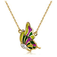 preiswerte Halsketten-Damen Kristall Anhängerketten - Roségold, Krystall Schmetterling Modisch, Elegant Regenbogen Modische Halsketten 1 Für Party, Büro & Karriere
