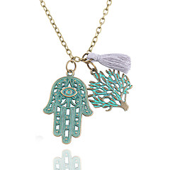 preiswerte Halsketten-Damen Anhängerketten / Ketten  -  Baum des Lebens Klassisch, Modisch Bronze Die Hand von Fatima Modische Halsketten 1 Für Party, Neujahr