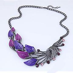 preiswerte Halsketten-Damen Statement Ketten - Blattform Europäisch, Modisch Purpur Modische Halsketten Schmuck Für Party
