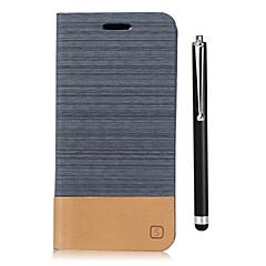 voordelige Hoesjes / covers voor Xiaomi-hoesje Voor Xiaomi Mi Max 2 Mi 5X Kaarthouder Portemonnee met standaard Flip Volledig hoesje Effen Kleur Hard PU-nahka voor Xiaomi Mi Max