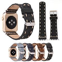 voordelige Apple Watch-bandjes-Horlogeband voor Apple Watch Series 3 / 2 / 1 Apple Leren lus Echt leer Polsband