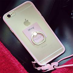 Недорогие Кейсы для iPhone-Кейс для Назначение Apple iPhone 6 Plus iPhone 7 Plus С узором Кейс на заднюю панель Однотонный Мягкий Силикон для iPhone 7 Plus iPhone 7