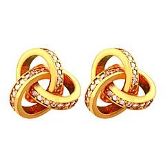 billige Hoop Øreringe-Dame Kvadratisk Zirconium Guldbelagt Store øreringe - Afslappet Mode Geometrisk form Til Aftenselskab Stævnemøde