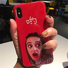 Недорогие Кейсы для iPhone 7-Кейс для Назначение Apple iPhone X iPhone 7 Plus С узором Кейс на заднюю панель Сплошной цвет Мягкий ТПУ для iPhone X iPhone 8 Pluss