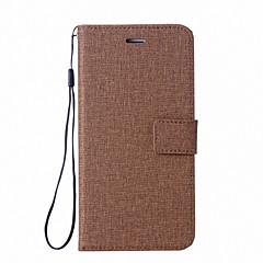 Недорогие Чехлы и кейсы для Sony-Кейс для Назначение Sony Xperia Z5 Xperia L1 Бумажник для карт Кошелек со стендом Флип Чехол Сплошной цвет Твердый Кожа PU для Sony