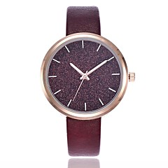 preiswerte Damenuhren-Damen Quartz Pavé-Uhr Kleideruhr Modeuhr Armbanduhren für den Alltag Chinesisch Armbanduhren für den Alltag PU Band Freizeit Modisch