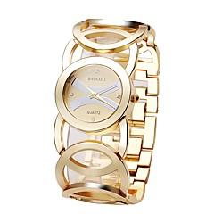 お買い得  レディース腕時計-女性用 スケルトン腕時計 日本産 クォーツ 30 m 耐水 合金 バンド ハンズ カジュアル シルバー / ゴールド - ゴールド