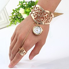 preiswerte Damenuhren-Damen Quartz Armband-Uhr Chinesisch Armbanduhren für den Alltag Edelstahl Band Armreif Gold