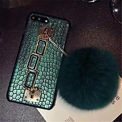 Недорогие Кейсы для iPhone 7-Кейс для Назначение Apple iPhone X iPhone 7 Plus С узором Кейс на заднюю панель Полосы / волосы Твердый Кожа PU для iPhone X iPhone 8