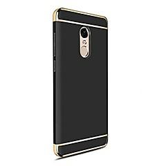 voordelige Hoesjes / covers voor Xiaomi-hoesje Voor Xiaomi Redmi 5 Plus Redmi Note 4X Beplating Achterkant Effen Kleur Hard PC voor Redmi Note 5AA Xiaomi Redmi Note 4X Xiaomi