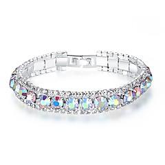 preiswerte Armbänder-Damen Kristall Kubikzirkonia Armband - Krystall, Zirkon Koreanisch, Modisch Armbänder Rot / Grün / Blau Für Party Geschenk