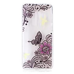 voordelige Galaxy S6 Edge Hoesjes / covers-hoesje Voor Samsung Galaxy S9 S9 Plus Patroon Achterkant Vlinder Lace Printing Zacht TPU voor S9 Plus S9 S8 Plus S8 S7 edge S7 S6 edge S6