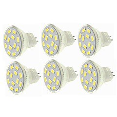 billiga LED-glödlampor-SENCART 6pcs 6W 450lm G4 MR11 LED-spotlights MR11 12 LED-pärlor SMD 5730 Dekorativ Varmvit Kallvit 12-24V