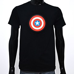 abordables Camisetas LED-Camisetas LED  Luminoso Puro algodón LED Casual 2 Baterías AAA