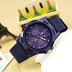 preiswerte Herrenuhren-Herrn Quartz Chinesisch Armbanduhren für den Alltag Stoff Band Modisch Schwarz Blau Dunkelgrün