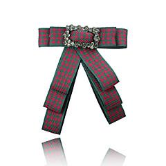 お買い得  ブローチ-女性用 ブローチ  -  リボン 欧風, ファッション ブローチ パールピンク / レッド / グリーン 用途 式典 / フォーマル