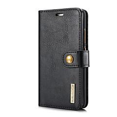 お買い得  Huawei Pシリーズケース/ カバー-ケース 用途 Huawei P9 P10 カードホルダー スタンド付き フリップ フルボディーケース 純色 ハード 本革 のために P10 Huawei P9