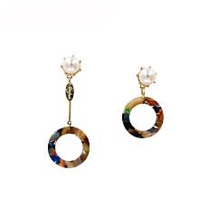 preiswerte Ohrringe-Damen Nicht übereinstimmend Tropfen-Ohrringe - Perle Modisch Kaffee / Königsblau Für Geschenk / Alltag