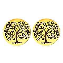 preiswerte Ohrringe-Damen Ohrstecker - vergoldet Baum des Lebens Retro, Ethnisch Gold / Silber Für Alltag