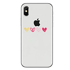 Недорогие Кейсы для iPhone X-Кейс для Назначение Apple iPhone X iPhone 8 Прозрачный С узором Кейс на заднюю панель С сердцем Мягкий ТПУ для iPhone X iPhone 8 Pluss