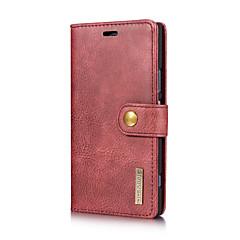 Недорогие Чехлы и кейсы для Sony-Кейс для Назначение Sony Xperia XZ Xperia XZ1 Бумажник для карт со стендом Флип Чехол Сплошной цвет Твердый Настоящая кожа для Sony