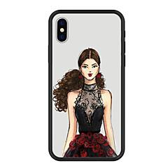 Недорогие Кейсы для iPhone 5-Кейс для Назначение Apple iPhone X iPhone 8 Plus С узором Кейс на заднюю панель Соблазнительная девушка Мультипликация Твердый Акрил для