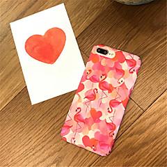 Недорогие Кейсы для iPhone-Кейс для Назначение Apple iPhone X / iPhone 7 Plus С узором Кейс на заднюю панель Фламинго Твердый Акрил для iPhone X / iPhone 8 Pluss / iPhone 8