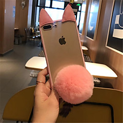 Недорогие Кейсы для iPhone 6-Кейс для Назначение Apple iPhone X / iPhone 7 Plus Прозрачный Кейс на заднюю панель Мультипликация Твердый ПК для iPhone X / iPhone 8 Pluss / iPhone 8