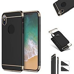 Недорогие Кейсы для iPhone 7-Кейс для Назначение Apple iPhone X iPhone 8 Защита от удара Ультратонкий Чехол Сплошной цвет Твердый пластик для iPhone X iPhone 8 Pluss